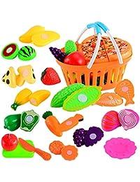Juguetes niños 3-10 años educativos Yesmile Los niños pretenden Juego de rol Juguete de la Comida de la verdura de Fruta de la Cocina…