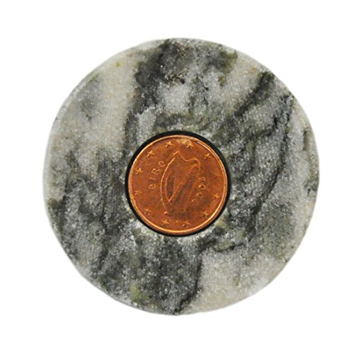 Connemara Marble Stone With Irish Lucky Penny (Lucky Irish Penny)