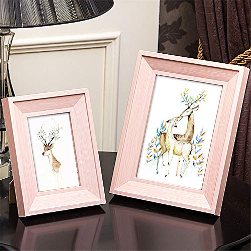 Candicely Bilderrahmen 5-Zoll-7-Zoll-Mother-of-Pead Photo Frame 2 Stück Schaum Photo Frame Studio Home Dekorationen für Tabletop Display (Farbe : Rosa) -