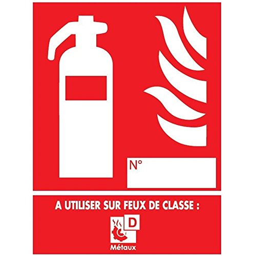 Feuerlöscher-Panel der Klasse D - PVC - 150 x 200 mm (Der Feuerlöscher A Klasse)