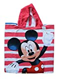 Mickey Mouse–Mickey poncho-toalla Kinder Microfaser mit Kapuze, Poncho 50x 100cm Handtuch, 50x 50cm
