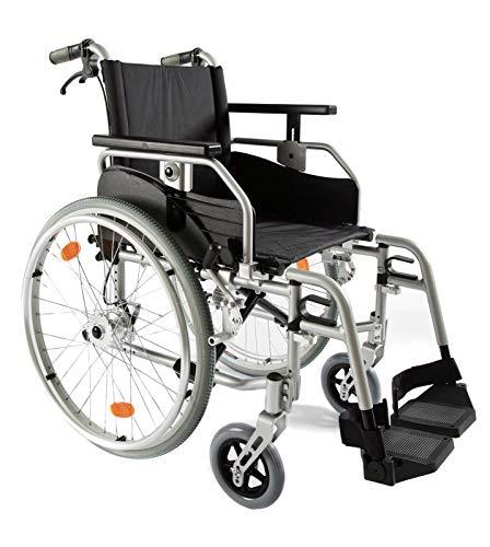 Leichtgewicht-faltrollstuhl (bescomedical Rollstuhl Primus ML 2.0 mit Komfortpaket, Faltbar, Leichtgewicht, Trommelbremse mit Steckachsensystem, Sitzbreite 48 cm)