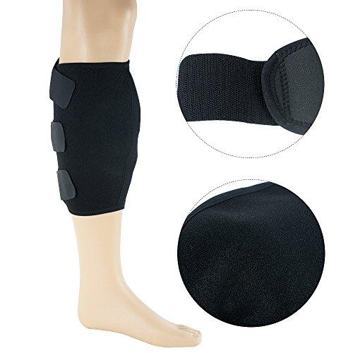 enshey Kalb Brace Schutz Schienbeinschoner verstellbar Kalb Shin Unterstützung Wrap Bandage Band Bandage Splint Sleeve Verletzungen Guard