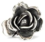 Trollbeads Damen-Bead 925 Sterling Silber weiß TAGBE-00032