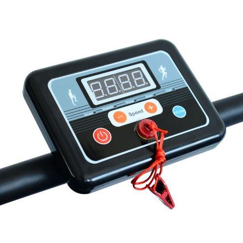 Homcom Laufband Elektrisches Fitnessgerät Klappbarer Heimtrainer mit LCD-Display 150 kg Belastung 500 W, schwarz-silbergrau, B1-0097 - 5