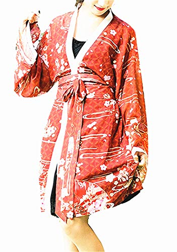 Japonés Estilo Kimono Bata baño Kimono Dormido Túnica