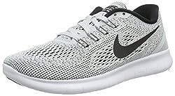 Nike Free RN Laufschuhe Damen, Grau (Weiß/Pure Platinum/Schwarz), 39 EU