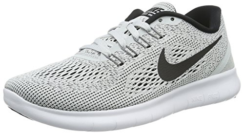 Nike Free Run 831509, Scarpe Da Corsa Donna, Bianco (White/Black/Pure Platinum), 36.5 EU