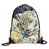 False warm warm White Tiger Drawstring Backpack Rucksack Shoulder Bags Training Gym Sack for Man and Women