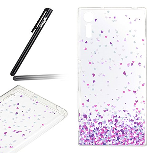 Funda-para-Sony-Xperia-XZ-Ukayfe-Suave-Carcasa-Caso-Parachoques-Diseo-pintado-Patrn-para-Sony-Xperia-XZFunda-Case-Lujo-Premium-Bling-Caja-PC-Dura-Ultra-Fina-Cubierta-Matt-Glitter-Protectora-Caja-Shiny