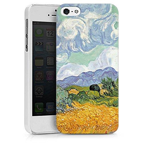 Apple iPhone X Silikon Hülle Case Schutzhülle Vincent van Gogh Wheatfield with Cypresses Kunst Hard Case weiß