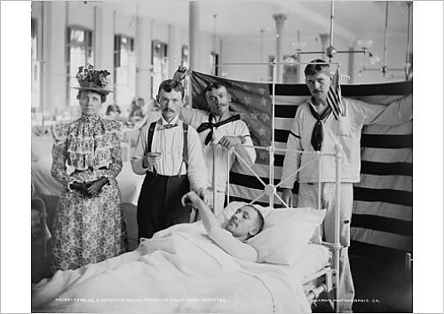 fine-art-print-of-taking-a-patient-s-pulse-brooklyn-navy-yard-hospital-c1890-1901-b-w