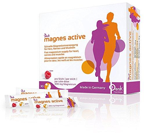 Denk magnes active - Einfache und schnelle Magnesium Versorgung (300mg) - 30 Sticks (Schwanger Migräne-kopfschmerzen)