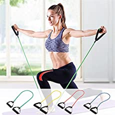 Flyngo Resistance Thera Tube - Theraband Exerciser - Strengthening & Stretching Band - Gym & Sports Workout Rubber Rope