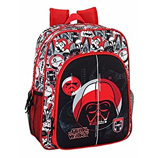 "51ZIZbBKY2L. SS324  - Safta Mochila Escolar Junior Star Wars ""Galactic Mission"" Oficial 320x120x380mm"