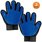 Simply Natural Pet Grooming Glove 2 Pack 2 Pack Dog Grooming Glove and Cat Grooming Glove Set with Adjustable Cuffs for a Better Fitting Pet Glove