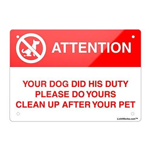 Dog Poop Aluminium Metall Zeichen, Ihren Hund DID seine Pflicht Bitte tun Yours, 30,5x 20,3cm Zoll entworfen, wennuna -