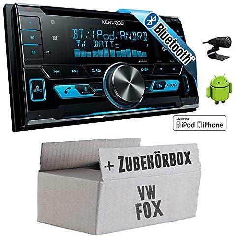 VW Fox - Kenwood DPX-X5000BT - 2DIN Bluetooth USB Autoradio - Einbauset - Vw Fox