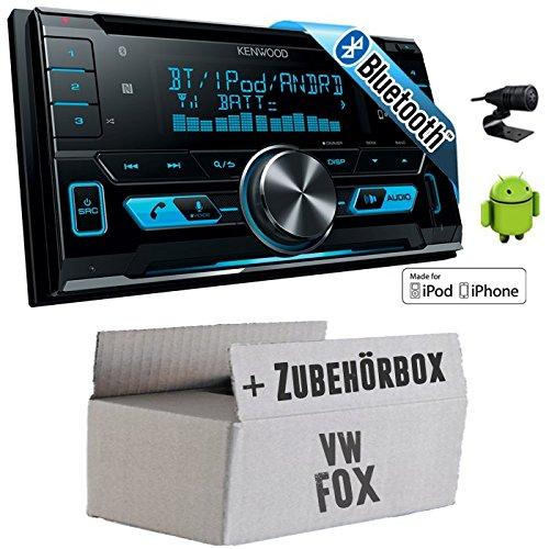 VW Fox - Kenwood DPX-X5000BT - 2DIN Bluetooth USB Autoradio - Einbauset
