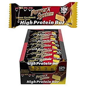 Power System High Protein Bar, Banane (24 x 35 g)