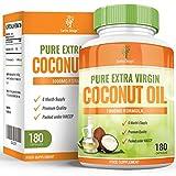 Aceite de Coco – Cápsulas de Aceite de Coco 1000mg - Virgen y Puro con ácidos grasos naturales TCM – Para hombres y mujeres - 180 Cápsulas (Suministro para 3 meses) de Earths Design