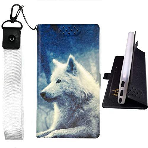 Lovewlb Hülle für Archos Core 55s Ultra Hülle Flip PU-Leder + Silikon Cover Case Fest LANG