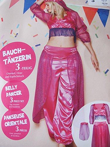 Sexy Bauchtänzerin Kostüm - Sexy Bauchtanz Kostüm Bauchtänzerin pink M 40/42