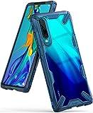 Ringke Fusion-X Custodia Compatibile con Huawei P30 Ergonomico [Difesa Militare Testata] Posteriore in PC Bumper in TPU Cover Protezione Paraurti Trasparente Custodia Cover Huawei P30 - Space Blue