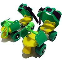 E - Royal Shop Kids Plastic and Steel Adjustable Inline Roller Skates (5-10 Years, Multicolour)