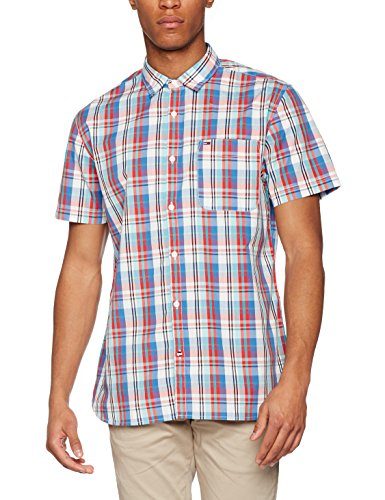 Hilfiger Denim Herren Freizeithemd Thdm Basic Reg Check Shirt S/S 51 Rot (High Risk RED/MULTI 902)