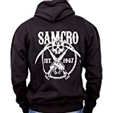 Damen Sweatjacke Herren SONS OF ANARCHY – SAMCRO Chained Gr. xx-large, Schwarz - Schwarz