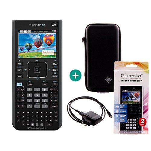 TI-Nspire CX CAS + Caricabatterie + pellicola protettiva + Custodia