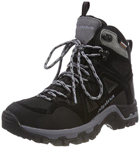 alpina Unisex-Erwachsene 680405 Trekking- & Wanderstiefel, Schwarz (1), 38 EU -