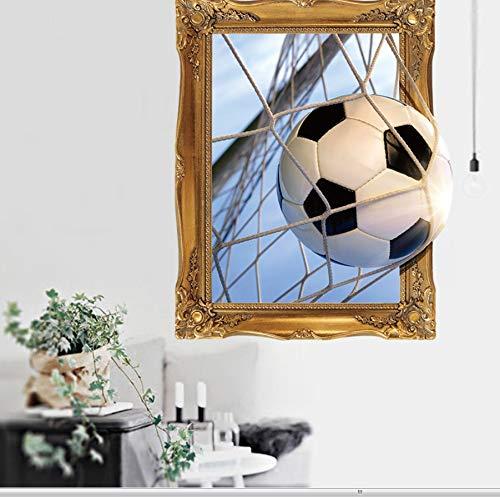 XIGZI Wandaufkleber Kleine Größe 3D Fußball Wandaufkleber Schlafzimmer Hintergrund Muurstickers Voor Kinderen Kamers Aufkleber Muraux 45X60 cm Weihnachten
