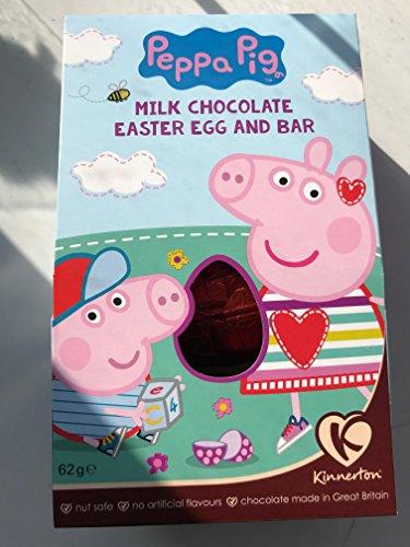 Peppa maiale al latte cioccolato uovo di pasqua e bar 62g