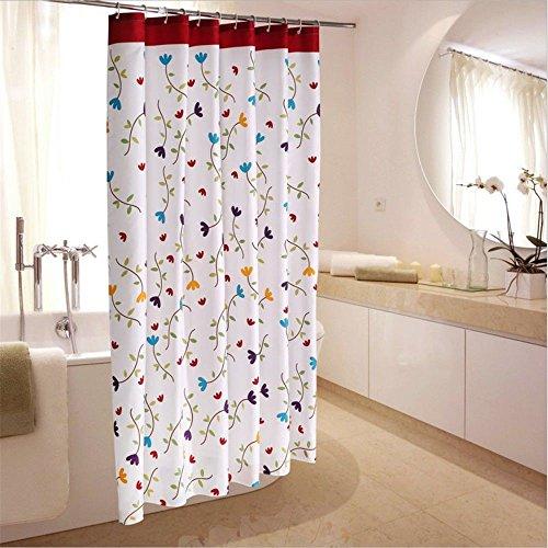 JYJSYM Dusche Vorhang, Badewanne duschvorhang, Verdickung, Wasserdicht, плесени Polyester Vorhang, Hotel duschvorhang, Wasserdicht 180x180cm,Ein,200x200cm