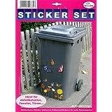 My Home Stickers pour poubelles Motif Papillons