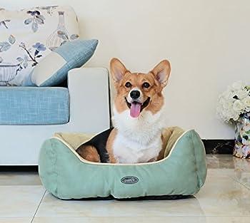 Pecute Panier Lit pour Chien Chat Pets Animaux Coussin Rversible Chaud Hiver Rectangle Ultra-Doux Lavable en Machine Taille M 53*63*25cm