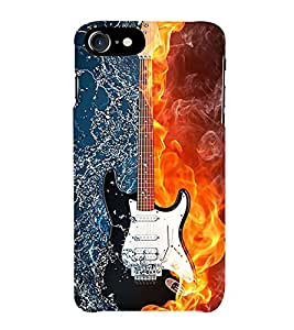 FIOBS Guiter you rock Designer Back Case Cover for Apple iPhone 7