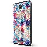 Xiaomi Redmi Note 2 Funda,Lizimandu 3D Patrón Protectiva Carcasa de Silicona Gel TPU estrecha Case Cover Para redmi note 2(Colorful Estopa/Colorful Pizzle)