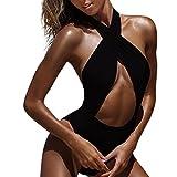 Zarupeng Bikinis Mujer 2018,Traje de Baño Sexy Bikini de Mujer Verano Conjuntos de bikinis deportivo mujer natacion push up brasileños de baño ropa de playa traje de baño (S, Negro)