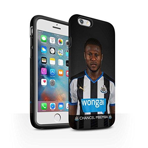 Offiziell Newcastle United FC Hülle / Matte Harten Stoßfest Case für Apple iPhone 6+/Plus 5.5 / Pack 25pcs Muster / NUFC Fussballspieler 15/16 Kollektion Mbemba