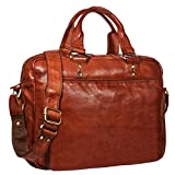 STILORD 'Joshua' Vintage Businesstasche Leder groß Herren Laptoptasche 13.3 Zoll Bürotasche Aktentasche Dokumententasche Umhängetasche echtes Rinds-Leder, Farbe:Cognac - braun