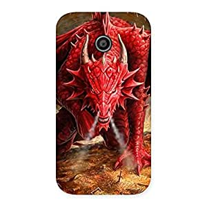 Delighted Red Fantastic Dragon Back Case Cover for Moto E