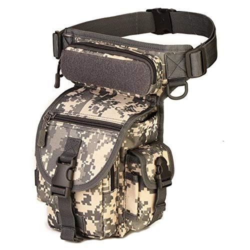 wasserdichte Nylon Tactical Drop Beinbeutel Soft System Jagd Werkzeug Hüfttasche Gürtel Oberschenkeltasche Männer Frauen Militärische Ausrüstung (Color : ACU shuma, Size : One Size) -