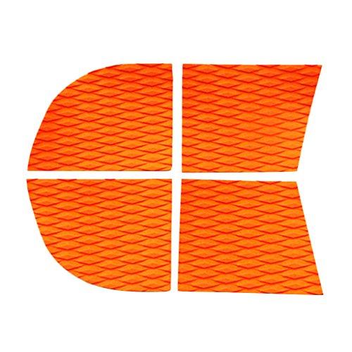 Matte, Surfbrett (Sharplace 4 teilig Anti-Rutsch Matte Surfbrett Surfboard Traktion Pad Deck Griff Pads - Orange)
