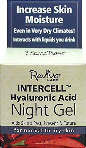 Reviva Intercell Night Gel with Hyaluronic Acid 1.50 oz by Reviva