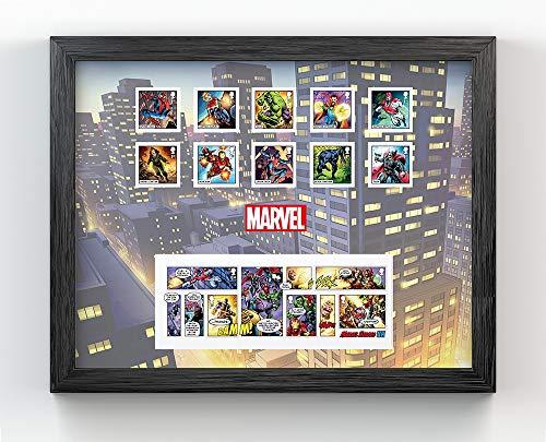 Marvel Gerahmte Briefmarken und Miniheet (Lego Spider Man Black)