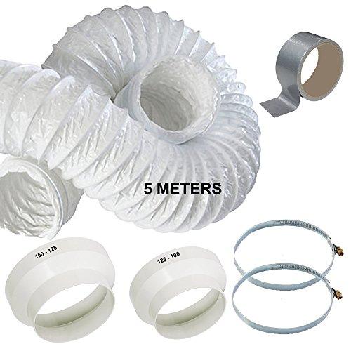 5m Kit de extensión de manguera de aire acondicionado portátil conducto de...