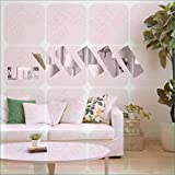 BEST DECOR Frame Silver(pack Of 6)Acrylic Sticker, 3D Acrylic Sticker, 3D Mirror, 3D Acrylic Wall Sticker, 3D Acrylic Stickers For Wall, 3D Acrylic Mirror Stickers For Living Room, Bedroom, Kids Room, 3D Acrylic Mural For Home & Offices Décor 2